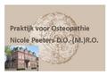 Praktijk voor Osteopathie Nicole Peeters D O- M R O logo